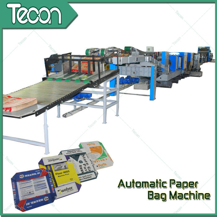 33KW Automatic Paper Bag Making Machine With Step Cut & Flat Cut