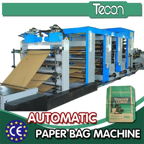 Automatic Cement Paper Bag Making Machine with both-end pasted